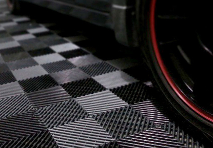hard plastic garage tiles