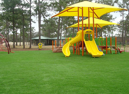Playground turf is great for under playsets and jungle gyms.