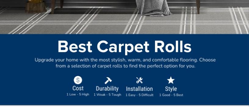 The Best Carpet Rolls Chart