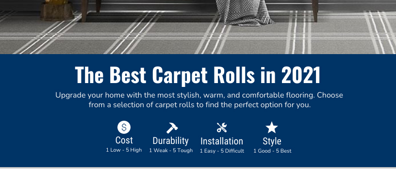 The Best Carpet Rolls Chart