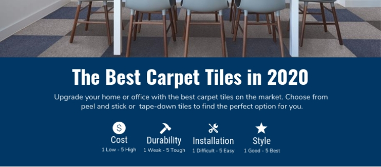 best carpet tiles infographic