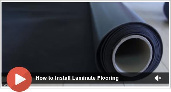 Laminate flooring installation steps - Video
