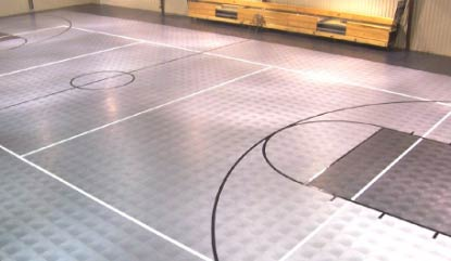 Court Flooring Installation