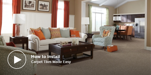 video how to install carpet tiles made easy