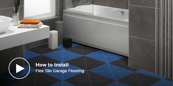 video how to install flex tile garage flooring