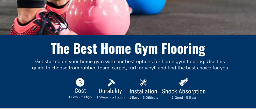 The Best Home Gym Flooring Chart