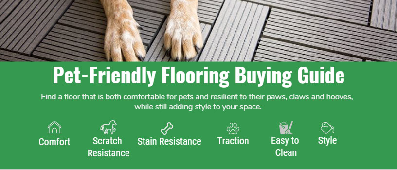 Pet Friendly Flooring Buying Guide infographic