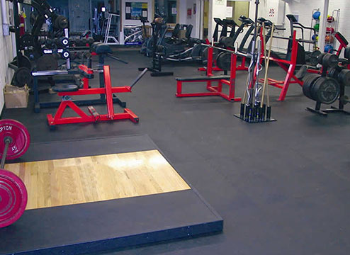 3/8-inch Rubber Gym Tiles