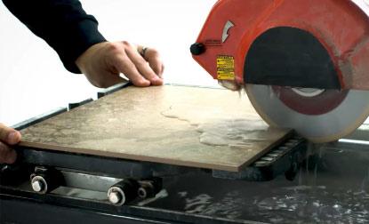 Step Eight: How to Cut Floor Tile