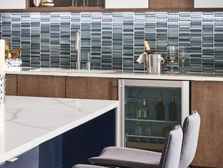 Daltile Cascading Waters Glass Mosaic