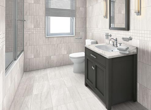Porcelain and Ceramic Tile Bathroom Flooring Options