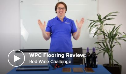 WPC Flooring Review: Red Wine Challenge