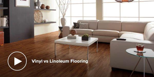 video - vinyl vs linoleum flooring