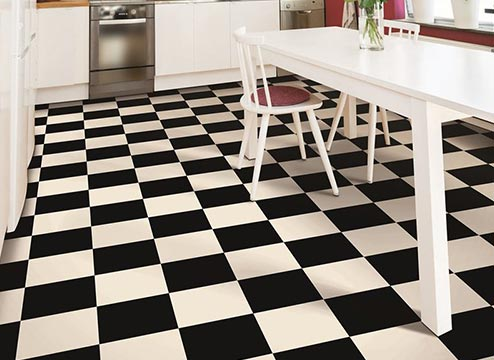 vintage checkerboard vinyl sheet flooring