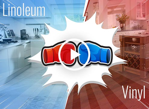Vinyl vs Linoleum Flooring Video