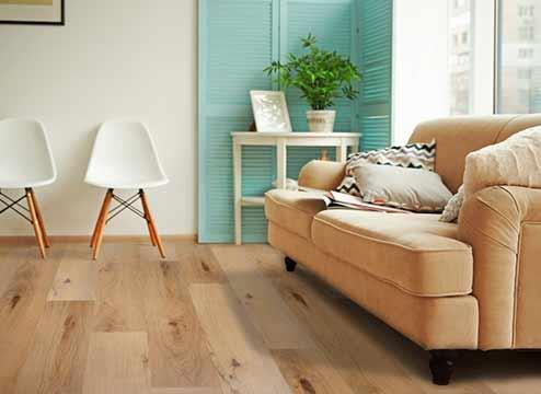 TritonCORE wood-look waterproof vinyl plank flooring in living area