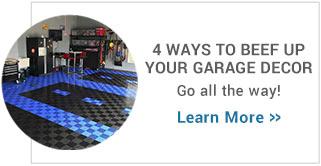4 ways to beef up your garage decor
