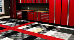 garage flooring - image: ribtrax tiles