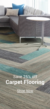 save 25% off carpet flooring