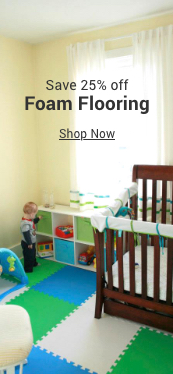 save 25% off foam flooring