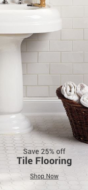 save 25% off tile flooring