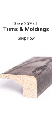 save 25% off trims & moldings
