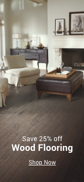 save 25% off wood flooring