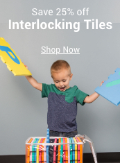 save 25% off interlocking tiles
