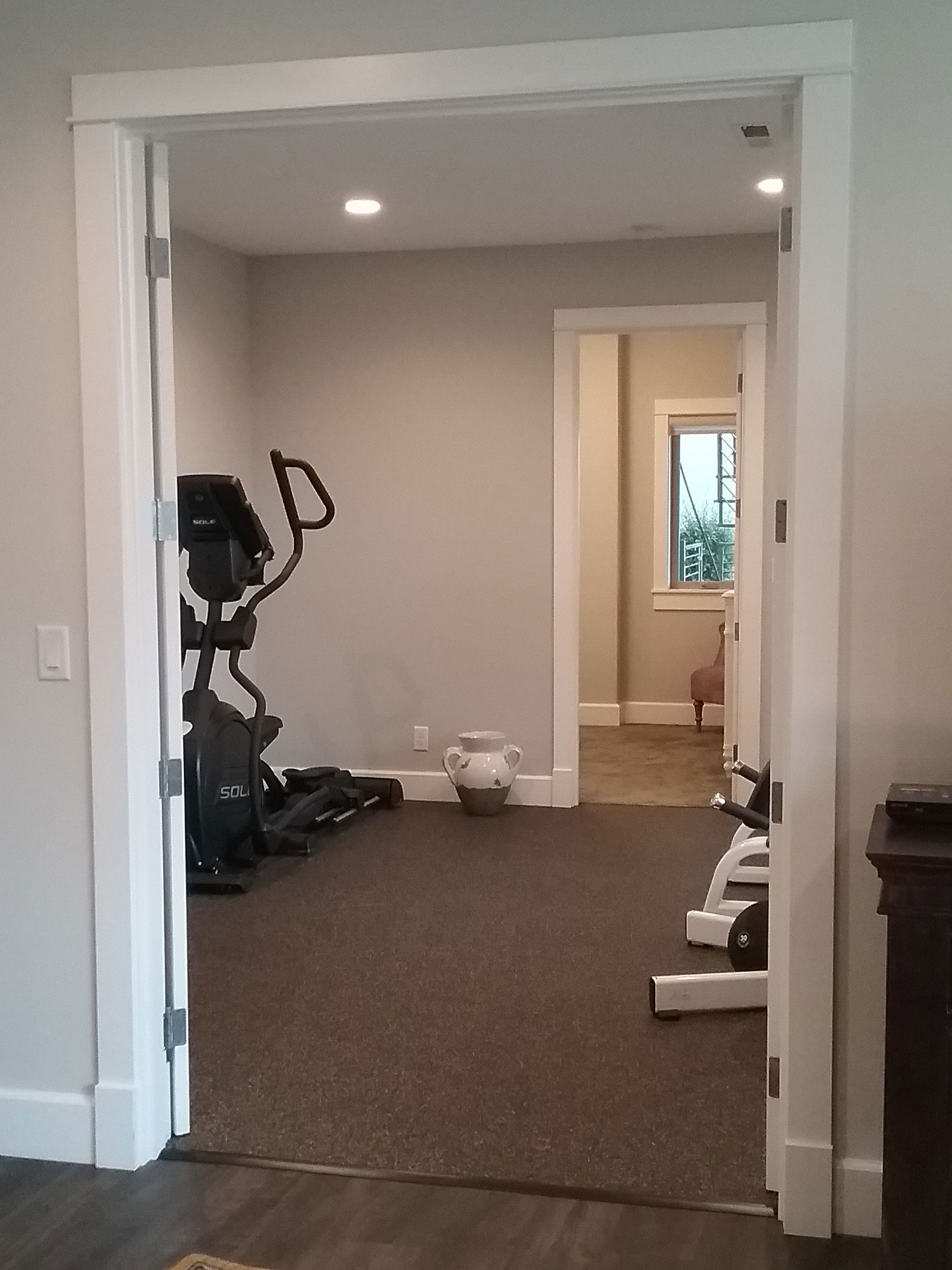 Customer review image of  in Downstairs exercise room