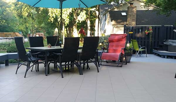 Customer review image of  in On top of pressure treated deck