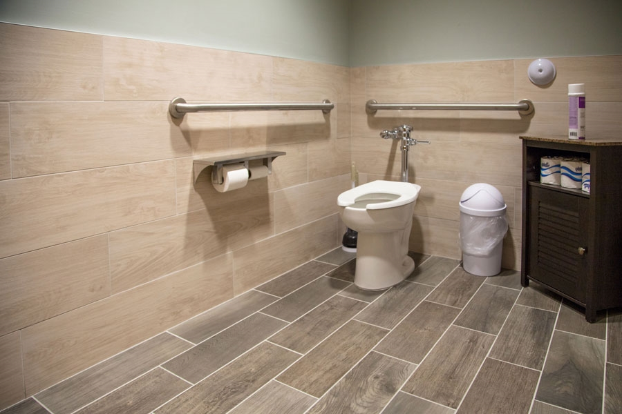Customer review image of  in Walls of office bathroom stalls