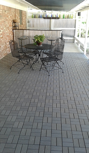 Customer review image of  in Concrete patio