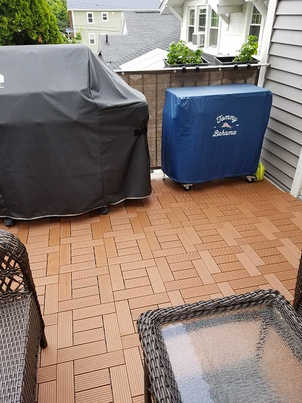Customer review image of  in Outside concrete deck