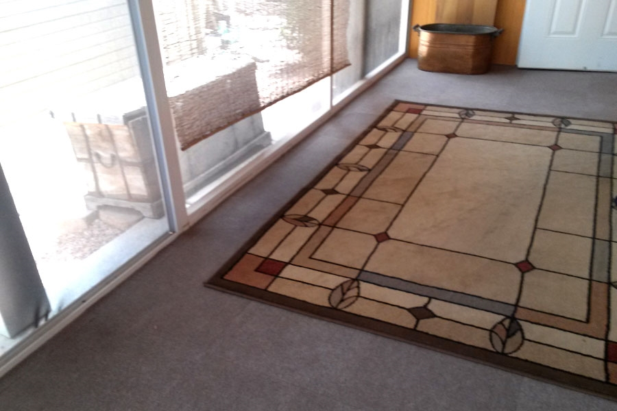 Customer review image of  in exterior screen porch over concerete
