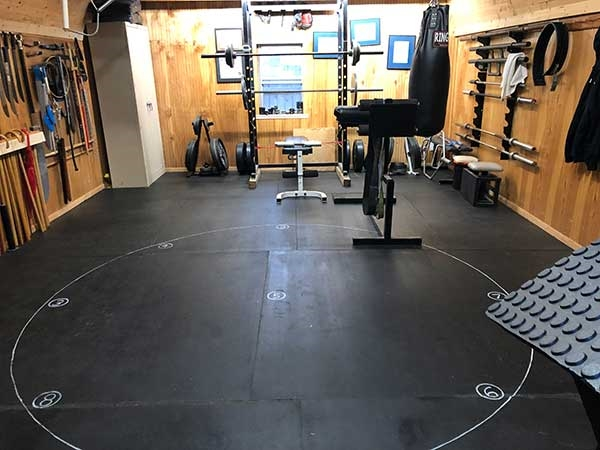 Customer review image of  in home gym/kwoon