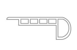 "Cross Sawn Pine 1.75"" x 94"" Stairnose"