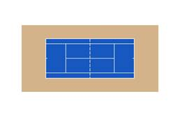 Outdoor Tennis Court Kit - 60' x 120'