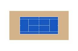 Outdoor Tennis Court Kit - 60' x 120'