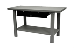 Homak Industrial Steel Workbench w/Drawers