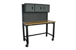 "Homak 59"" Collapsible 3-Door Workstation"