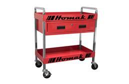 Homak Steel 1-Drawer Service Cart
