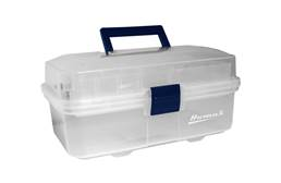 "Homak 13"" Transparent Toolbox w/ Tray"
