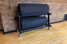 Gym Floor Cover Roll Rack