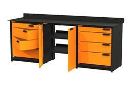 Swivel Storage Workbench w/Base Cabinet