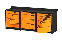 Swivel Storage Workbench w/Drawers - Triple
