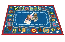Joy Carpets Bible Train Kids Rug