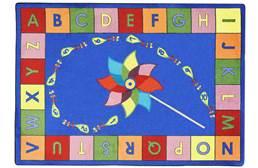 Joy Carpets Alphabet Pinwheel Kids Rug