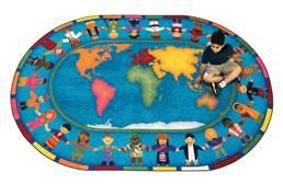 Joy Carpets Hands Around the World Kids Rug