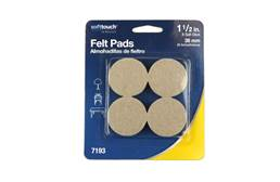 "1.5"" Oatmeal Felt Furniture Pads"