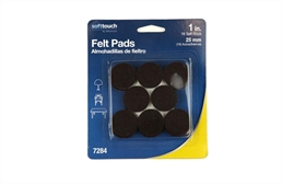 "1"" Brown Felt Furniture Pads"